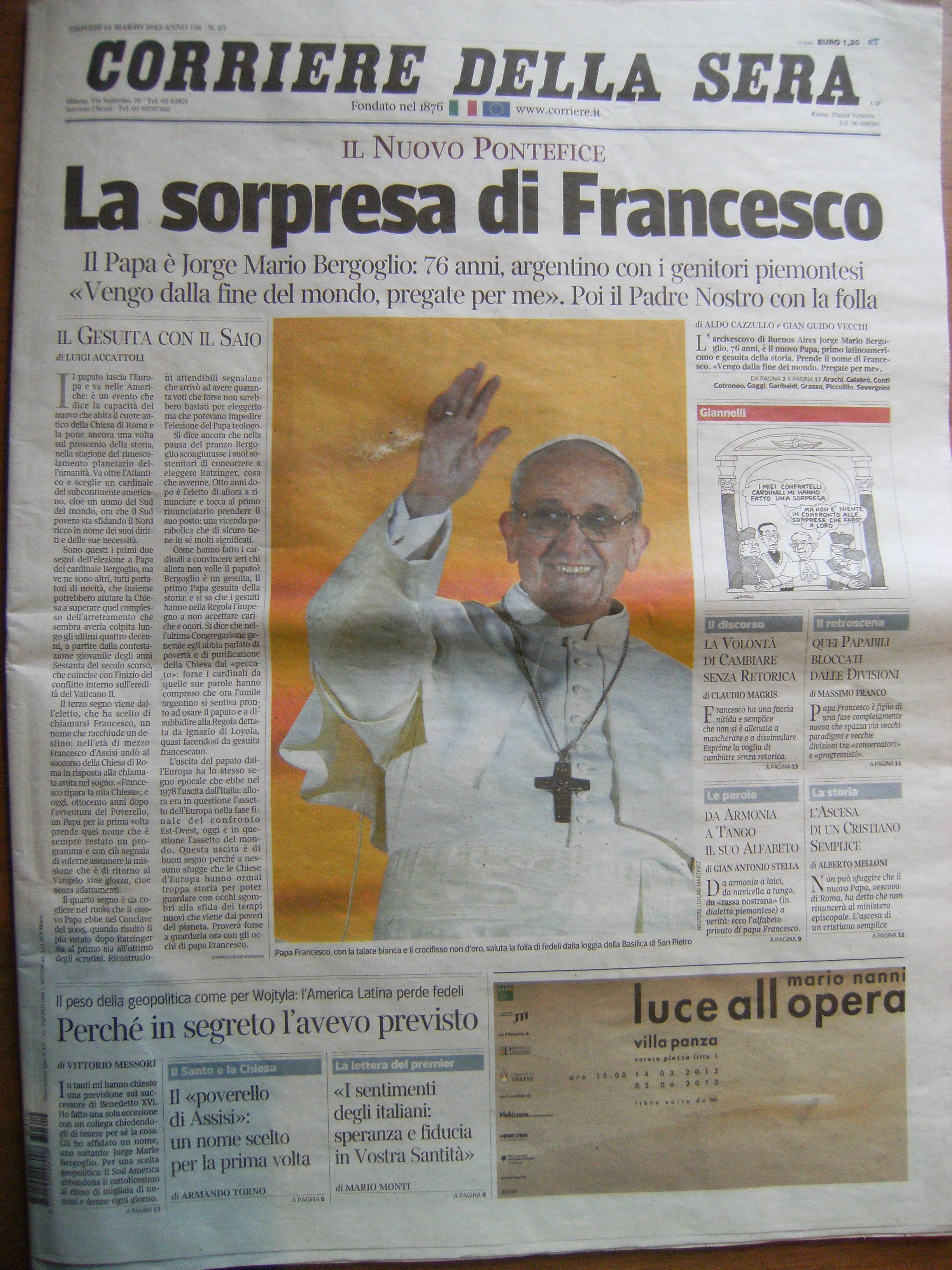 de corriere della sera del 14 marzo 2013 pagina 2 pagina 3 pagina 5 pagina 6 pagina 8 pagina 9 pagina 10 pagina 11 pagina 12 pagina 13
